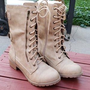 New Mid Calf Combat Boots